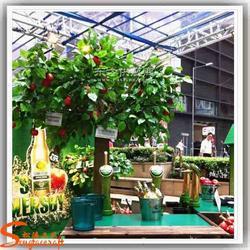 仿真果树 仿真苹果树造景工程 仿真植物安装 仿真红苹果树图片