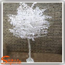 仿真白色榕树 大型假榕树 白色树 酒店大堂摆放植物图片
