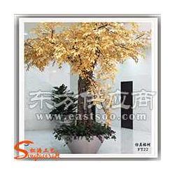 厂家直销金色榕树 商场酒店室内装饰金色榕树许愿树 仿真树图片