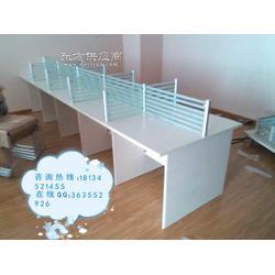 铝合金隔断桌 玻璃屏风办公桌 时尚简约职员板式工位桌出售图片
