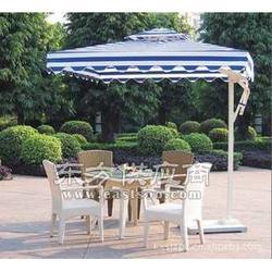 全铝合金方形/圆形侧立伞边柱伞单边伞庭院伞图片